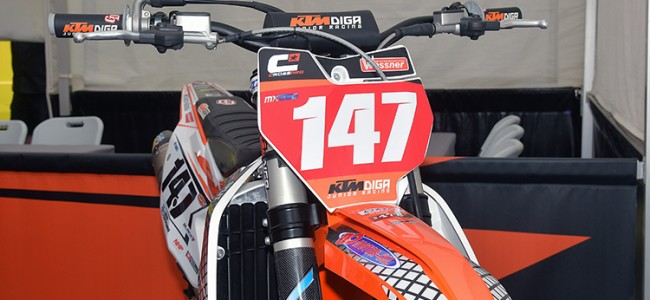 Glas is half vol voor KTM Diga Junior Racing