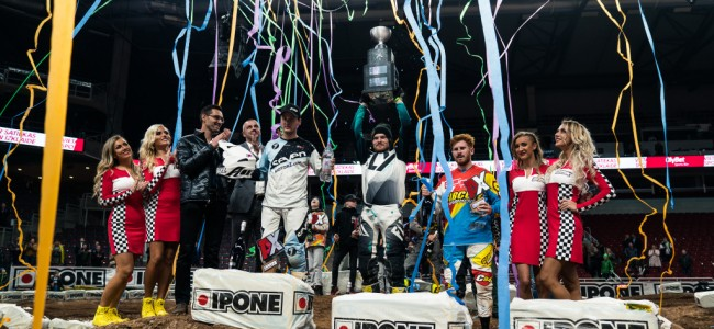Tanel Leok triomfeert in Arenacross Riga