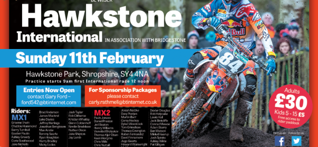 Inter: Entry-List Hawkstone Park International 2018.