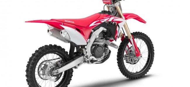 Honda breidt CRF gamma uit voor 2019