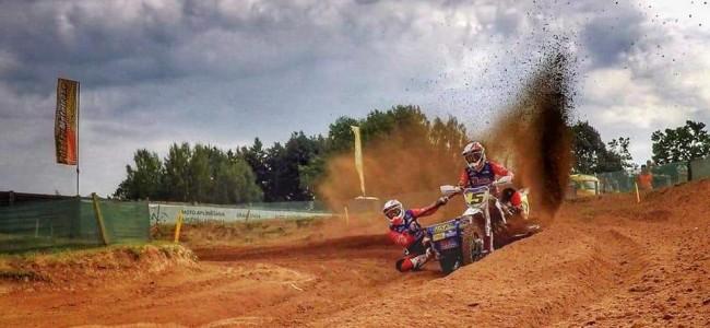 Hermans/Musset winnen de verhitte strijd tijdens de GP zijspancross van Letland!