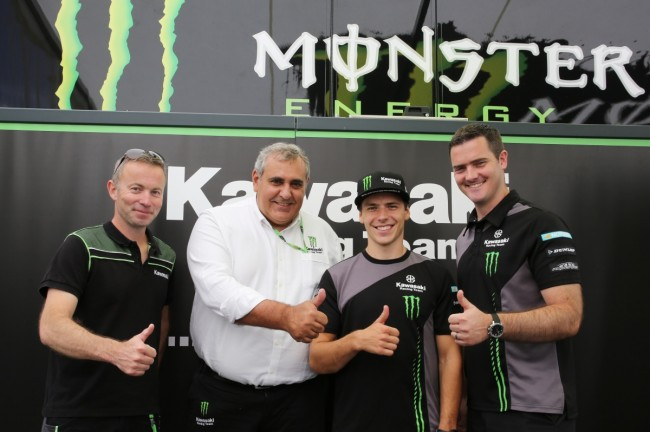 Julien Lieber verlengt bij Monster Energy Kawasaki Racing Team