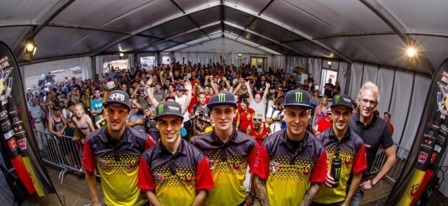Team Belgium MXON: Desalle, Geerts, Van Horebeek
