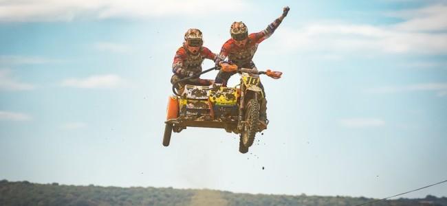 Veldman/Janssens winnen hun allereerste Grand Prix zijspancross in Frankrijk!