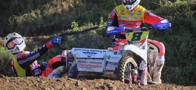 Crash team Dierckens in warm-up belet deelname Sidecarcross of Nations!