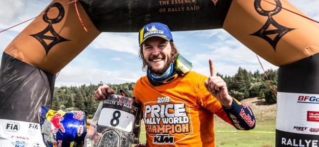 Toby Price wint Rally du Maroc en de wereldtitel!