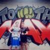 Eline Burgmans aan de slag met wereldkampioen Van den Bogaart
