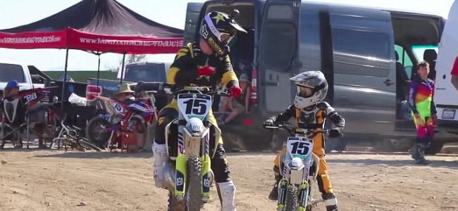 Video: Dean Wilson zoekt Husky 50cc held Luke op!