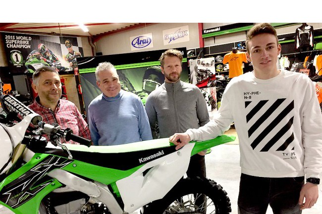 Tim Louis met GEPA Kawasaki en Pablo MXteam