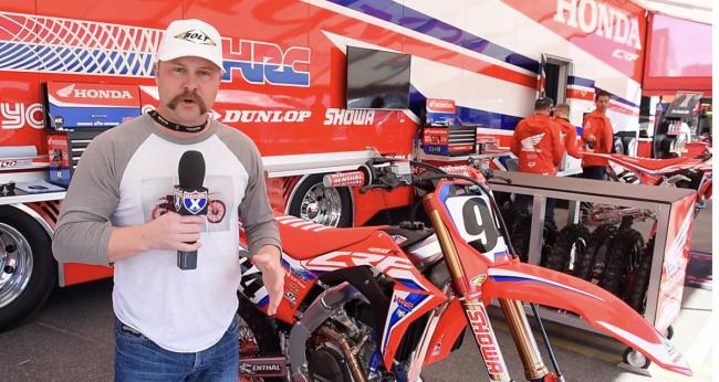 Video: Supercross 450 factory bikes