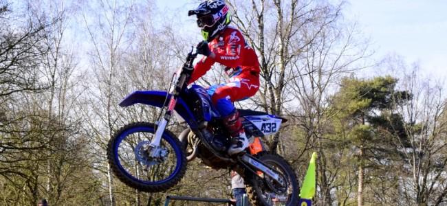 Ivano van Erp wint de 85cc klasse in Groesbeek