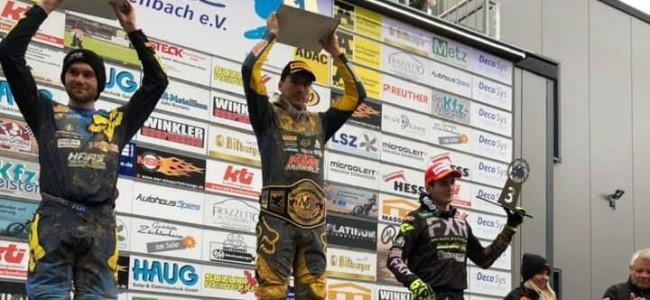 Lukas Neurauter wint de ADAC Wintercross Frankenbach
