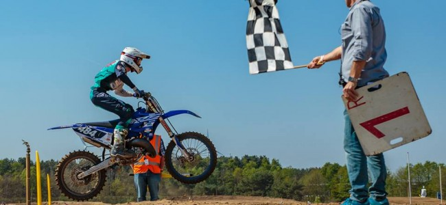 Dave Kooiker wint de Denicol Sand Rookies 125cc
