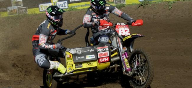 Bax/Stupelis door wederom heat-winst glorieus winnaars van de GP zijspannen te Oldebroek!