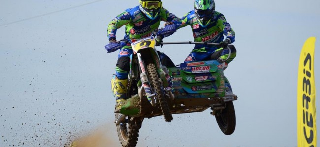 'Iron' Mike Keuben en Lars de Laat pakken verrassende podiumplek tijdens IMBA EK zijspan te Wohlen!