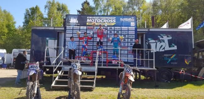 Cas Valk wint de Deense EMX85!