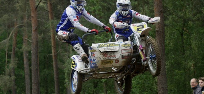 Hermans/Musset winnen de spectaculaire ONK Sidecar Masters in Halle!