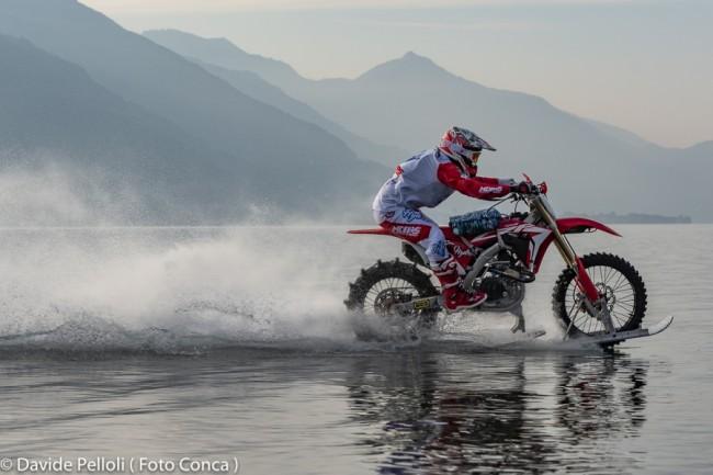 Luca Colombo gaat voor het wereldrecord motorrijden over water!