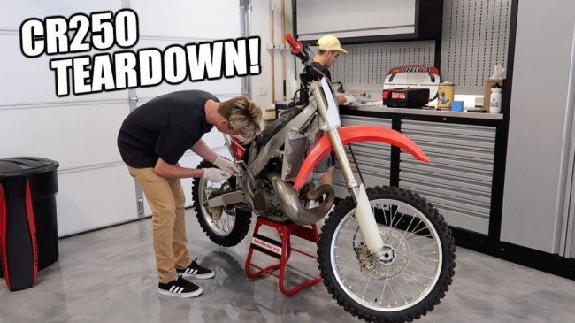 Video: Cole Seely's starts building a CR250!!