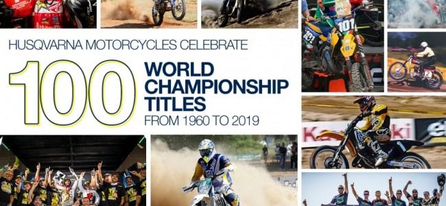 100 wereldtitels voor Husqvarna motorcycles!