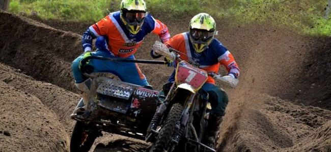 Het Nederlandse team voor Sidecarcross of European Nations