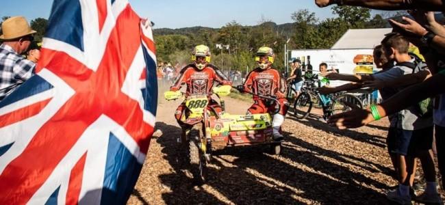Brown/Chamberlain verrassend maar oppermachtige winnaars finale GP zijspancross te Rudersberg!