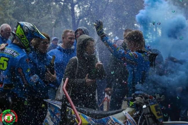 Tim Leferink en Sam Veldman Nederlands nationaal zijspancross-kampioen!