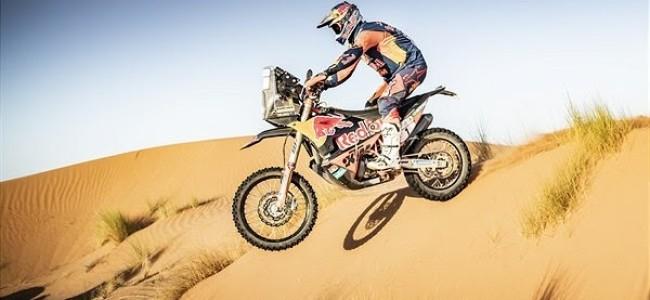 Toby Price neemt de leiding in Rallye du Maroc
