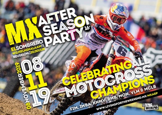 Toppers naar de MX After Season Party a.s. vrijdag