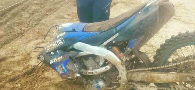 Zware crash voor Michele Cervellin in Lommel