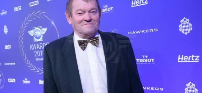 Joël Robert beloond voor zijn carrière op het FIM-gala.