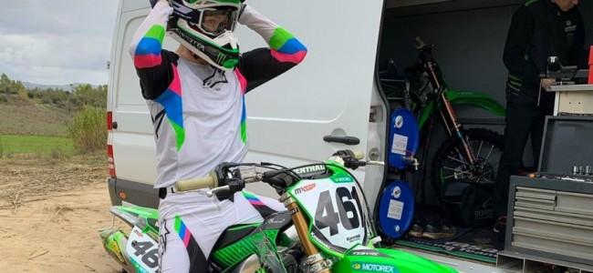 Romain Febvre voor het eerst op de Kawasaki
