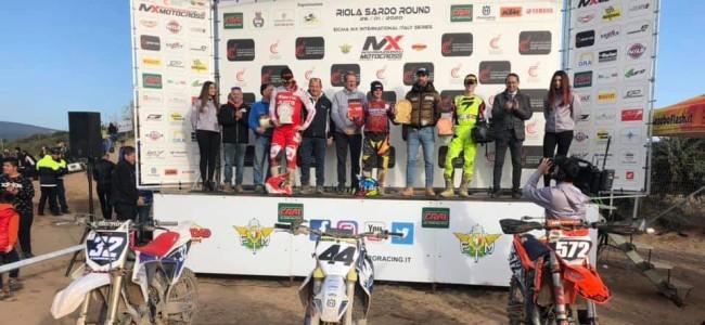 Pietro Razzini verrast met de overwinning in Riola Sardo