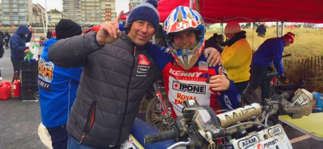 Junior Bal wint Championnat de France sur Sable in 125cc klasse!