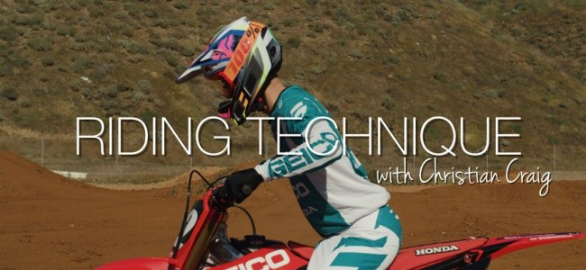 Video: Supercross riding technique with Christian Craig