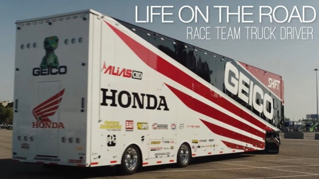 Video: Life on the road with Geico Honda