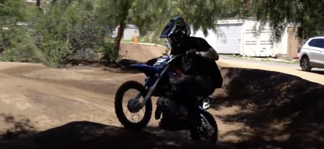 Video: Ryan Villopoto pitbike action