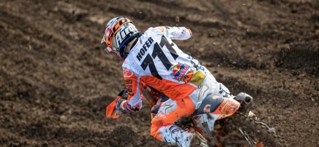 MX2 Kaplice tijdstraining: pole Hofer, Geerts en Renkens vijfde en zesde