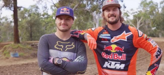 VIDEO: Toby Price en Jack Miller vechten het uit op een motorcrossbaan