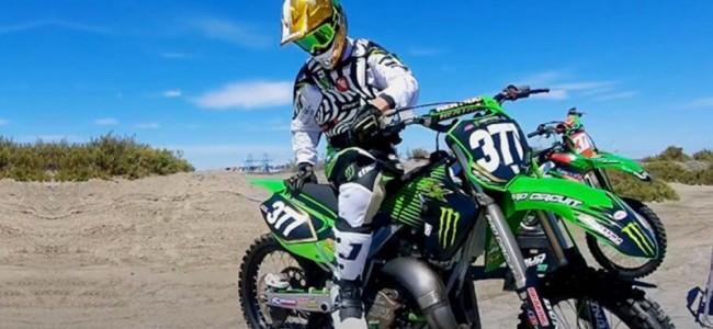 VIDEO: Christophe Pourcel tovert op zijn Pro Circuit KX125