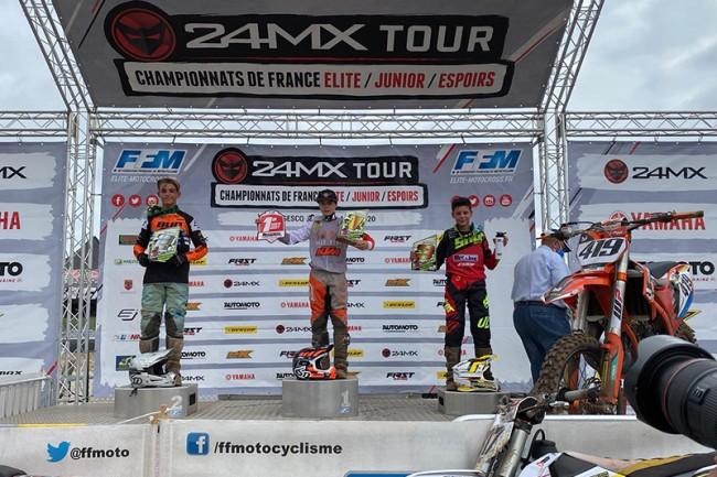 Sacha Coenen imponeert in Frans kampioenschap 85cc