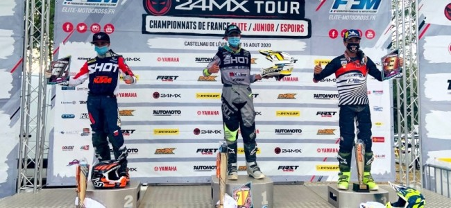 Podium en leidersplaat voor Sacha Coenen in 24MX Tour