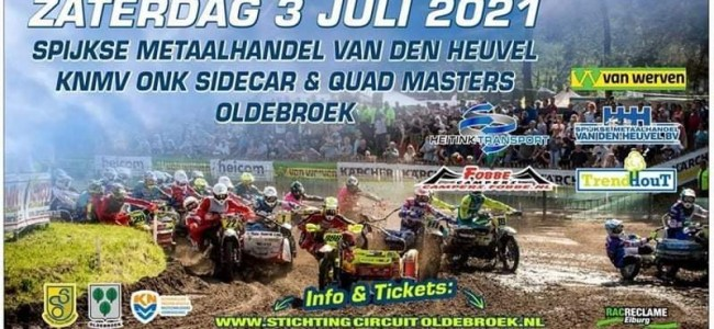 Welke wereldtoppers winnen de ONK Sidecar Masters te Oldebroek?
