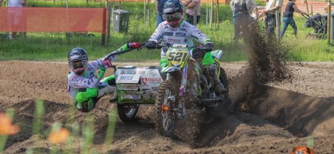 Sam Veldman/Sem Leferink winnen direct bij hun debuut de NK Zijspannen Oldebroek!