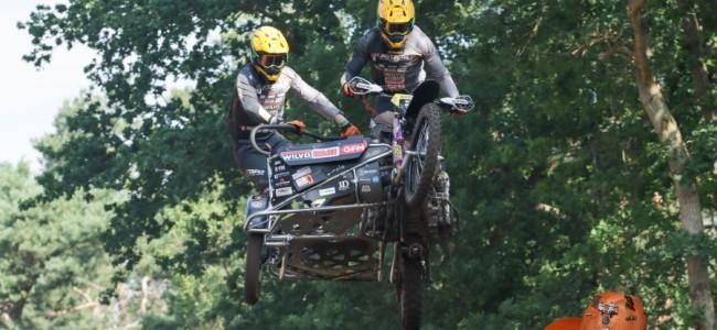 Bax/Musset winnen de eerste heat ONK Sidecar Masters Oldebroek