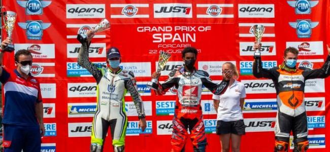 Romain Kaivers op het Spaanse podium