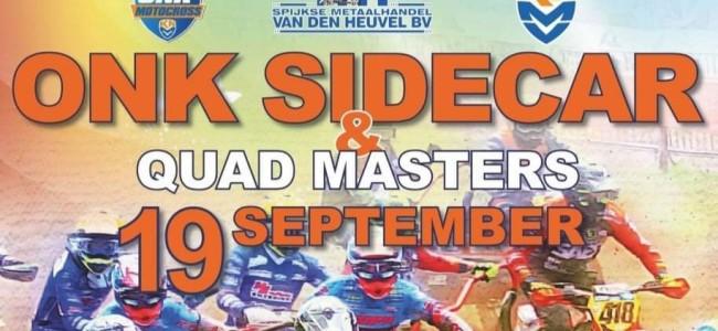 Online ticket verkoop ONK Sidecar & Quad Masters Oss 19-09 gestart!