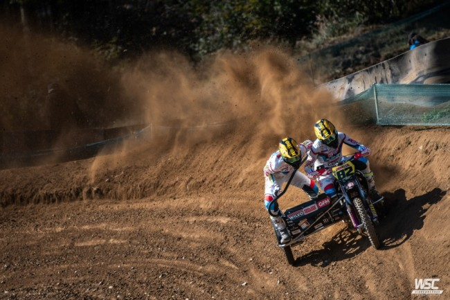 Bax/Musset winnen met overmacht heat 1 tijdens GP Sidecars Kramolin!
